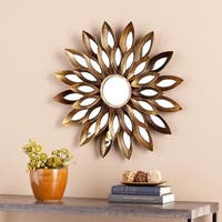 The Curated Nomad Lotta Decorative Mirror - Gold - N/A|