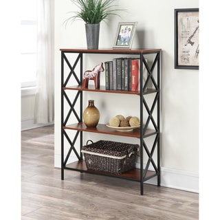 Carbon Loft Ehrlich Metal and Wood 4-shelf Bookcase