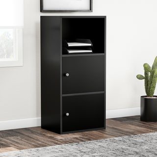 Porch & Den St. Claude Black Wood 2-door Storage Cabinet