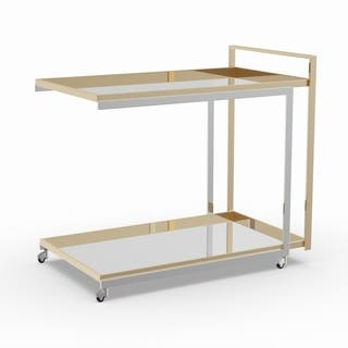 Silver Orchid Grant Two-Tone Bar Cart
