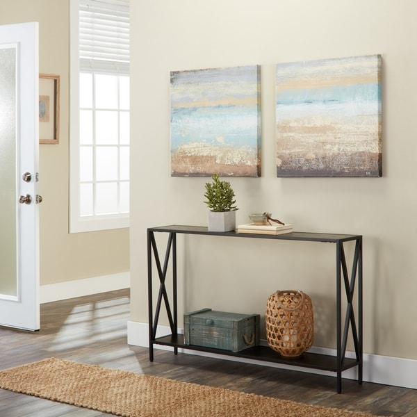 15 Entrance Hall Table Styles To Marvel At: Shop Carbon Loft Ehrlich Cross Design Console Table