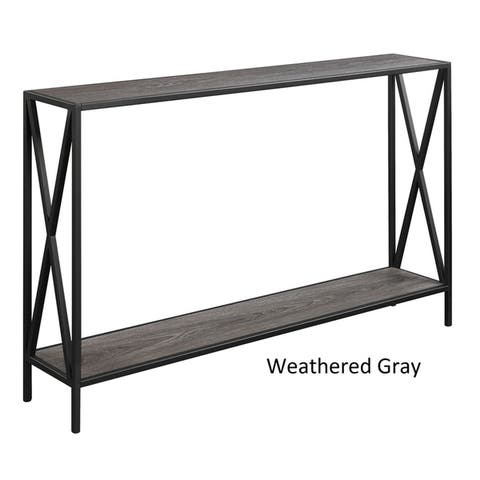 Carbon Loft Ehrlich Cross Design Console Table