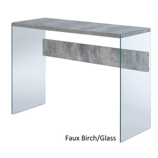 Porch & Den Bywater Urquhart Wood/ Glass Console Table