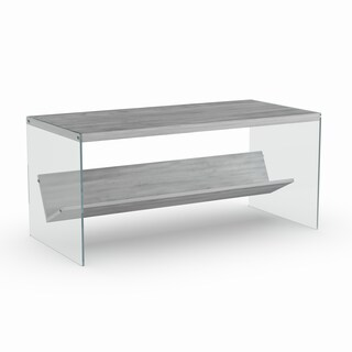 Porch & Den Bywater Urquhart Wood/ Glass Coffee Table