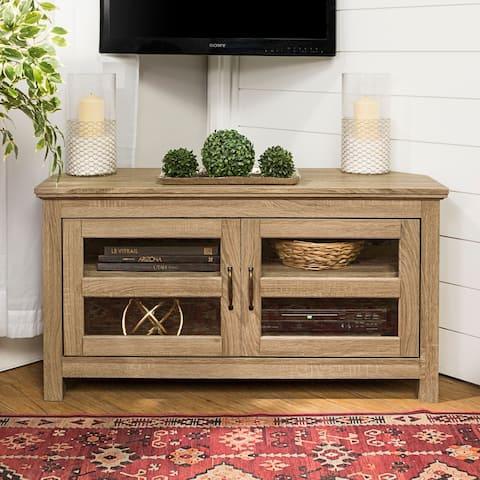 The Gray Barn Kelvin 44-inch Driftwood Corner TV Stand - 44 x 16 x 23h