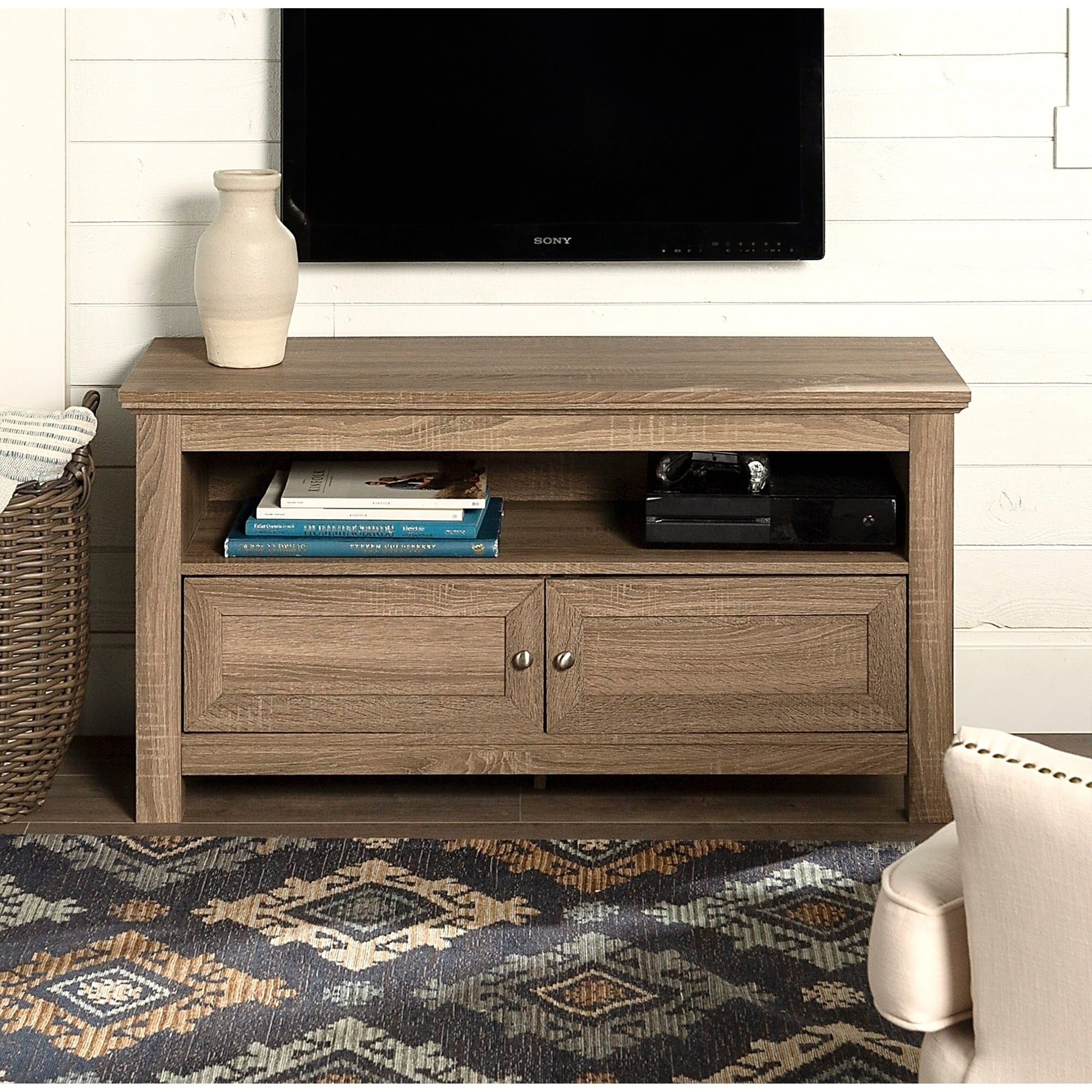 huge selection of ce7db 2ba33 Copper Grove Castalia 44-inch Driftwood TV Stand