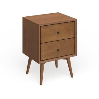 Strick & Bolton Marsalis Mid-century Wood/ Veneer 2-drawer Nightstand
