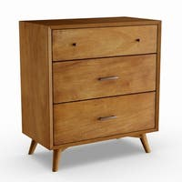 Strick & Bolton Marsalis Mid-century Wood 3-drawer Small Chest
