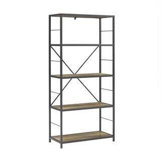 The Gray Barn Kaess Metal and Wood Rustic Bookshelf
