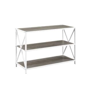 White Horizontal Bookshelves Bookcases Online At Our Best Living Room Furniture Deals