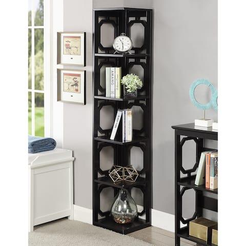 Copper Grove Hitchie 5-tier Corner Bookcase
