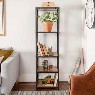 d vintage o shelf bookcase finish industrial k metal x bookshelf furniture h barn wood w product