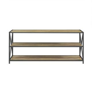 Carbon Loft Hattie X Frame Metal And Wood Media Bookshelf