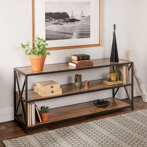 Carbon Loft Hattie 60-inch X-frame Bookshelf
