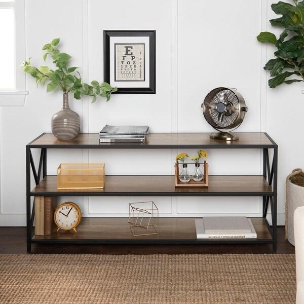 Shop Carbon Loft 60-inch Hattie X-frame Media Bookshelf