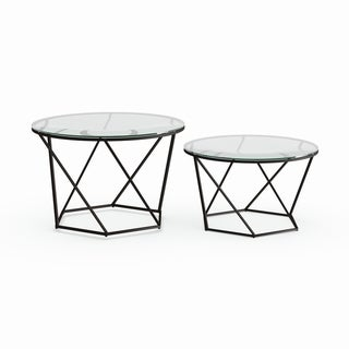 Glass nesting coffee tables Elegant Round Buy Nesting Tables Coffee Console Sofa End Tables Online At Overstockcom Our Best Living Room Furniture Deals Bioinnovationco Buy Nesting Tables Coffee Console Sofa End Tables Online At