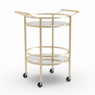 Silver Orchid Grant Bar Serving Cart