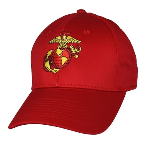 US Marine Corps Red Anchor Globe Military Ball Cap