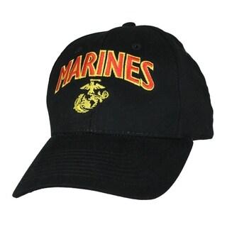 US Marine Corps Black Anchor Globe Military Ball Cap