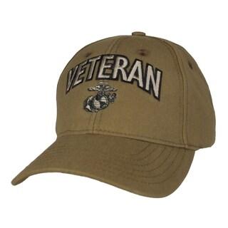 US Marine Corps Veteran Coyote Brown Military Ball Cap