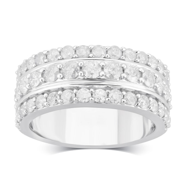 Divina Sterling Silver 2.00ct TDW Diamond Anniversary Ring. Opens flyout.