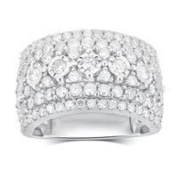 Divina Sterling Silver 2 1/4ct TDW Diamond Anniversary Ring