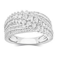 Divina Sterling Silver 1 1/2ct TDW Diamond Anniversary Ring