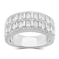 Divina Sterling Silver 2 1/4ct TDW Diamond Anniversary Ring