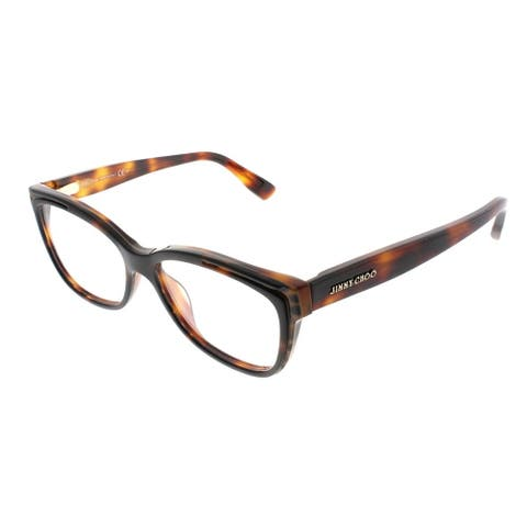 Jimmy Choo Cat-Eye JC 146 PUU Women Animal Havana Frame Eyeglasses
