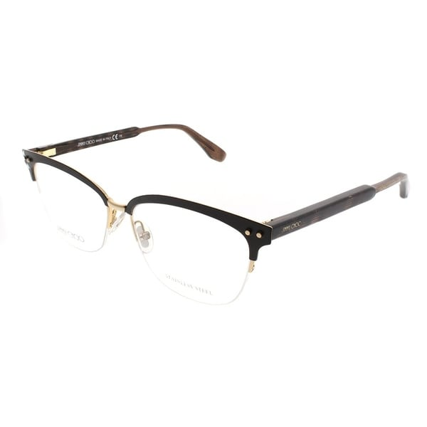 512ef6d3849b Jimmy Choo Rectangle JC 138 LYE Women Semi Matte Brown Frame Eyeglasses