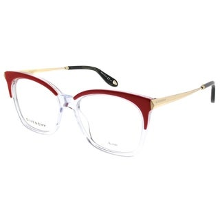 Givenchy Rectangle GV 0062 SDB Unisex Orange Crystal Frame Eyeglasses