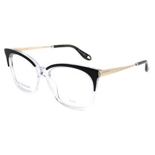 Givenchy Rectangle GV 0062 7C5 Unisex Black Crystal Frame Eyeglasses