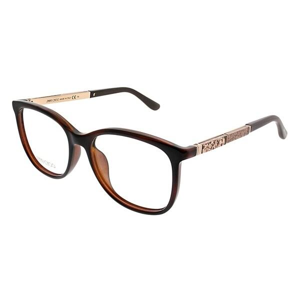 1b02ea6705 Jimmy Choo Square JC 191 9N4 Women Havana Brown Frame Eyeglasses