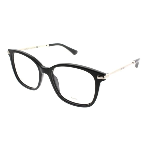 d9b39858ca Shop Jimmy Choo Square JC 195 807 Women Black Frame Eyeglasses ...