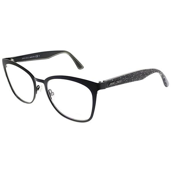 c90ad3a2ec3a Jimmy Choo Square JC 189 NS8 Women Black Glitter Frame Eyeglasses