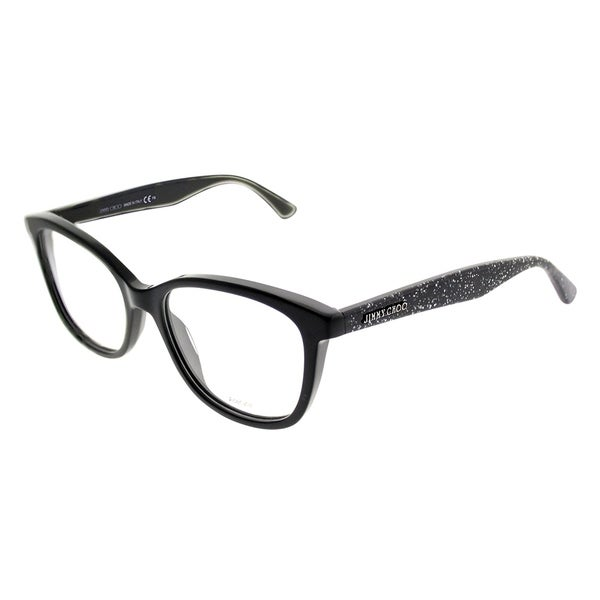 96cc636bbfb Jimmy Choo Square JC 188 NS8 Women Black Glitter Frame Eyeglasses