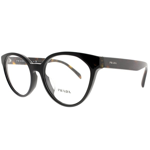 Shop Prada Cat-Eye PR 01TVF 1AB1O1 Women Black Frame Eyeglasses - On ...