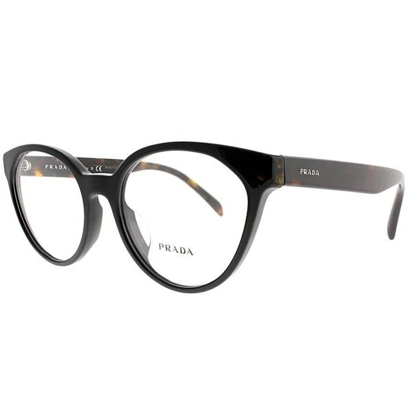 16455da20d2 Shop Prada Cat-Eye PR 01TVF 1AB1O1 Women Black Frame Eyeglasses ...