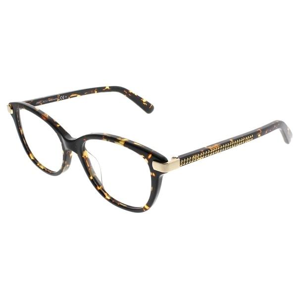 e1f3370004 Shop Jimmy Choo Square JC 196 86 Women Dark Havana Frame Eyeglasses ...