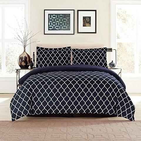 Duvet Cover Set, 3 Piece Hotel Luxury Duvet Cover With 2 Pillow Shams