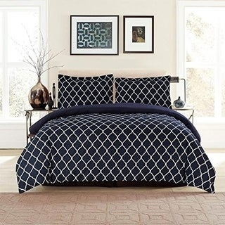 Duvet Cover Set, 3 Piece Hotel Luxury Duvet Cover With 2 Pillow Shams