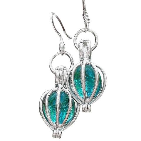 Handmade Recycled Antique Mason Jar Silver Drop Earrings (United States)