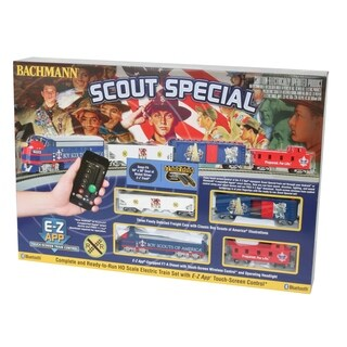 Bachmann Trains SCOUT SPECIAL - BOY SCOUTS OF AMERICA E-Z App Smart Phone Controled Electric Train Set - HO Scale