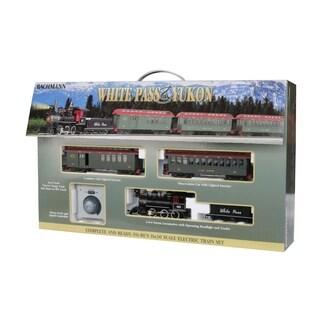 Bachmann Trains WHITE PASS & YUKON PASSENGER SET Ready to Run Electric Train Set - On30 Scale