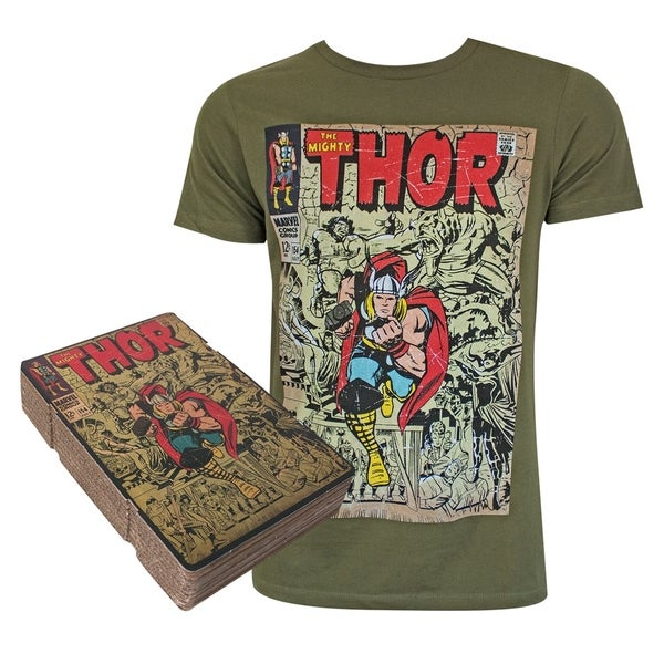 Thor Corrugated Boxed Green Tee Shirt
