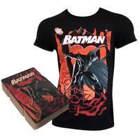 Batman Corrugated Boxed Black Tee Shirt