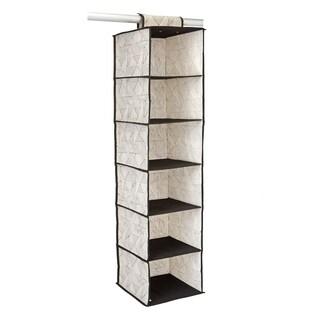 ClosetCandie Geo Natural 6 Shelf Closet Organizer