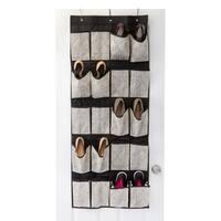 ClosetCandie Geo Natural 20 Pocket Over the Door Shoe Organizer