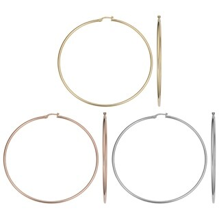14k Gold 2x70mm Large Hoop Earrings (yellow gold, white gold or rose gold)