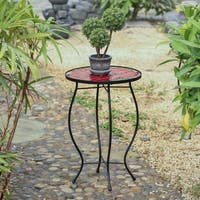 Red Flower Plant Stand